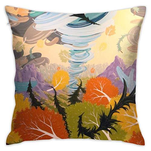 Butlerame Throw Pillow Cover Tornado Bed Sofá Funda de Almohada Almohada para Dormir Cojín Suave 18 'X 18' PLW-3443