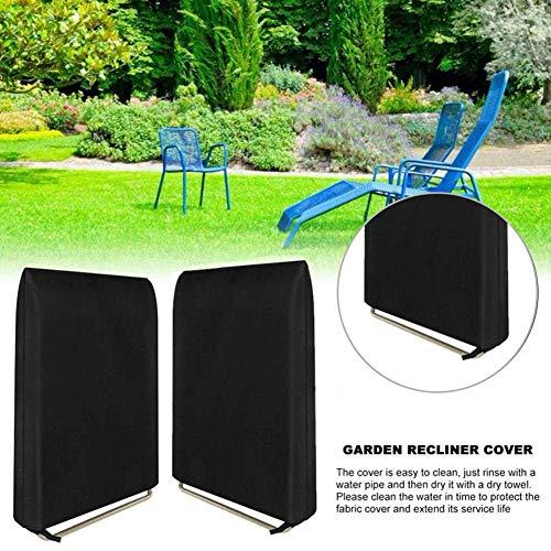 2PCS Verbesserter Patio-Klappstuhlbezug, 100 wasserdicht, staubdicht, UV-beständig, Stuhlbezug Regensicherer Gartenhof-Möbelbezug Perfekt für die Aufbewahrung von Klappstühlen, 37 32 Zoll