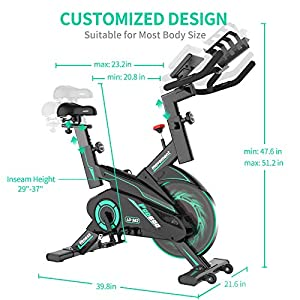 L NOW Exercise Bike Indoor Cycling Bike Belt Drive Smooth Magnetic Resistance Stationary Bike (S5)