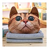Guomao Cartoon-Katze Handwärmer Kissen Büro Nap Blanket Decke, Kissen, Kissen Dreilendenkissen...