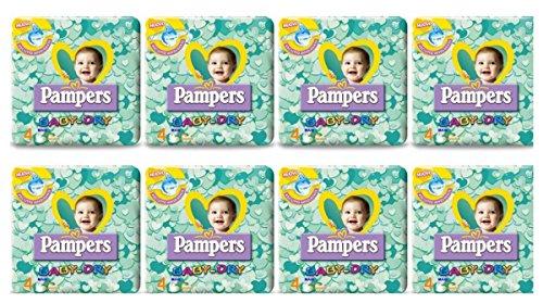 152 pañales para niño, talla 4, Pampers Baby Dry