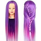 Neverland 26 Pouce Têtes à Coiffer avec de Long Cheveux Synthetiques Violet avec...