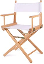 Makeup Telescopic Artist High-Footed Director Chair丨Wood Foldable Outdoor High Chair丨Tall Makeup Chair,Wood Color Leg (Col...