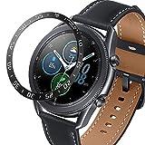 DXFFOK Per Samsung Galaxy Watch 3 41mm 45mm frontiera Orologio Anello Anello Anello Copertura Adesivo AntiGraffio Anello Intelligente Orologio Accessorio (Band Color : Black, Band Width : 41mm)