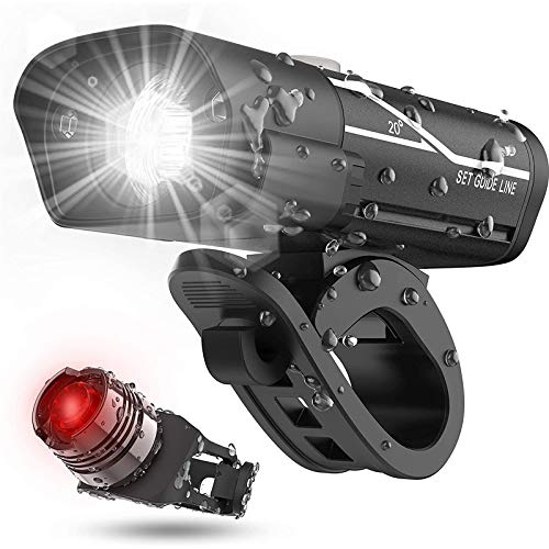 ZRXRY Luces de Bicicleta Brillantes de 600 lúmenes y luz Trasera, 5 Opciones de Modo de iluminación de la luz de Bicicletas Son adecuadas para Todas Las Bicicletas de montaña