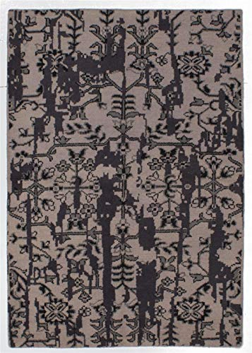 eCarpet Gallery Area Rug for Living Room, Bedroom | Hand-Knotted Wool Rug | Eternity Casual Ivory Rug 5
