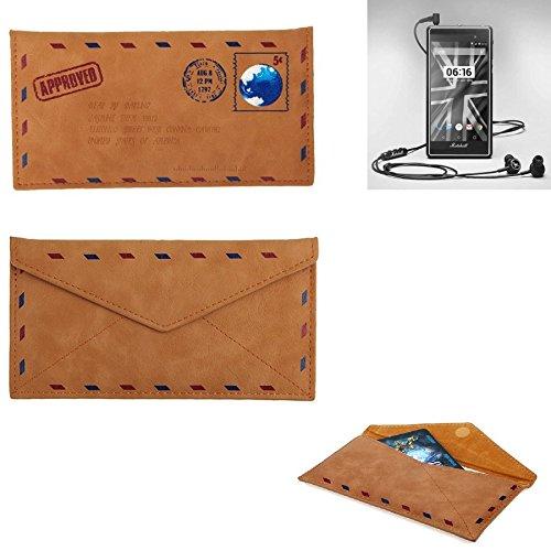 K-S-Trade® Für Marshall London Kunstleder Handyhülle Schutz Hülle Für Marshall London In Braun. Briefumschlagoptik Slim Case Cover Pouch Für Handys/Smartphones Bookstyle Wallet Case
