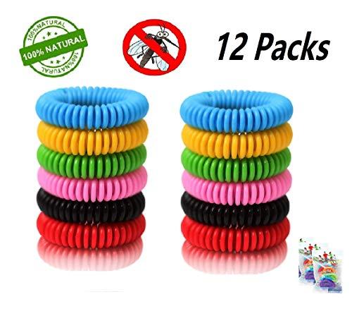 MeiGuiSha Mückenschutz-Armbänder 12er-Pack - Mückenschutz-Pflaster gegen Insekten Sicher und effektiv