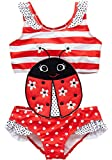 Coralup Girls Swimsuits One Piece Swimwear Ruffle Bathing Suit for Kids 2-3Years