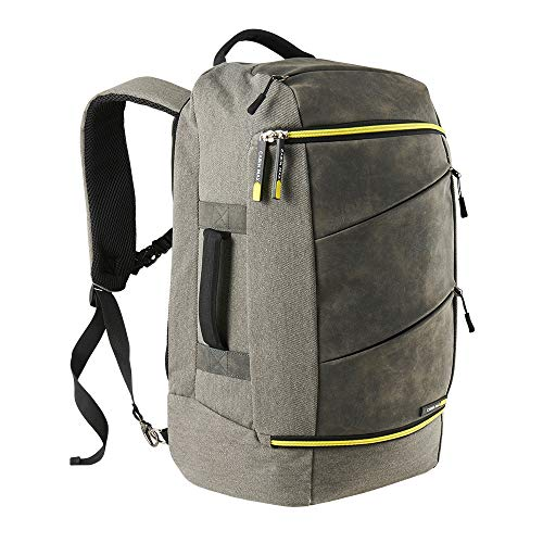 Cabin Max Manhattan Cabin Luggage Backpack | Laptop Backpack Sized 55x35x20 (Grey/Yellow Backpack)