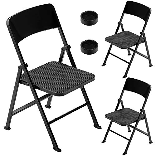 3 Sets 1/6 Scale Folding Mini Chair Dolls Folding Chair Playsets Miniature Furniture Toy Folding Doll Chairs Decoration for Birthday Baby Shower Holiday Festival