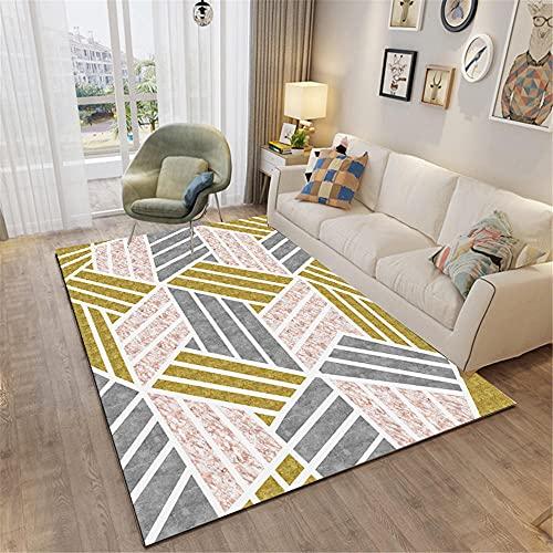 Alfombra Gateo Bebe Multicolor Alfombra para niños Alfombra Decorativa Moderna Minimalista geométrica de Pelo Corto salón Dormitorio salón alfombras de Pasillo 50X80cm