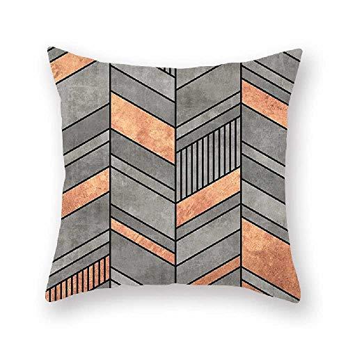 Kissen Geometrische Abstrakte Druck Kissenbezug Taille Rest Kissen 45 * 45cm*2/ Graue Geometrie 02