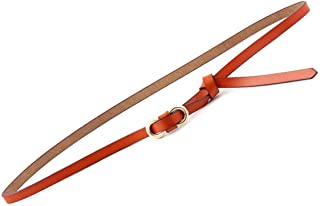 WMWLUO Belt Ladies Wild Leather with Dress Knotted Leather Fashion Decoration Korean Student Belt (Color : Orange)