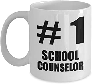 Gifts for Number 1 School Counselor Coffee Mug Tea Cup Funny Cute Gag Appreciation Student Guidance Gift Idea Primary Secondary Counseling Program Education Recognition Award Reward