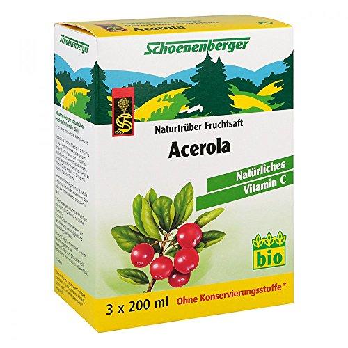 Succo di acerola Schoenenberger, pianta medicinale, 600ml
