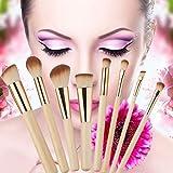 Venta caliente 17.5x10x2 cm 8PCS Professional Golden Tube Pinceles de maquillaje Facial Herramientas diarias de maquillaje Envío directo al por mayor - Oro