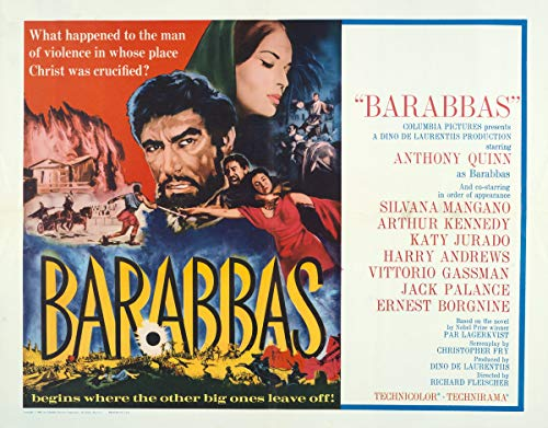 Berkin Arts Cartel de película Lámina giclée sobre Lienzo-Cartel de la película Reproducción Decoración de Pared(Barrabás 3) #XFB