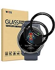 WFTE [2-Pack Screen Protector voor Garmin Venu 2 45mm 3D volledige dekking, anti-kras, hoge transparantie, anti-vingerafdruk, premium gehard glas Screen Protector voor Garmin Venu 2 45mm (zwart)
