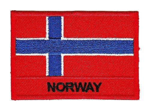 Aufnäher Bügelbild Aufbügler Iron on Patches Applikation Flagge Norway Norwegen