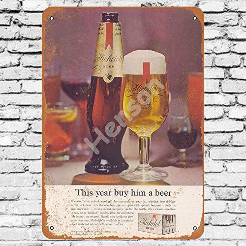 Henson 1963 Michelob bier traditionele vintage Tin teken Logo 12 * 8 reclame in het oog springende wanddecoratie
