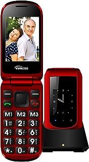 Handy mit Große Tasten Flip Klapphandy 2,4 Zoll GSM Mobiltelefon Senioren-Handy Lange Standby Seniorenhandy ohne Vertrag und Tasten Notruffunktion SOS