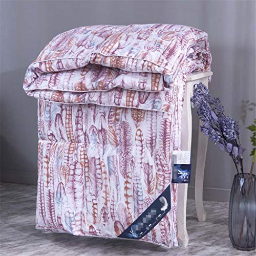 Laoling Winter Padded Printed Duvet Warmth 100% Quilt Core 95% White Goose Down Gift Quilt 5 180X220cm 4KG