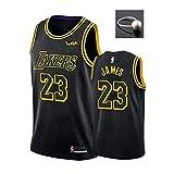 NBNB - Camiseta de baloncesto de Los Angeles Lakers, Bryant, Lebron, James, Anthony, Davis, Kyle, Kuzma, para hombre, edición conmemorativa Mamba en negro