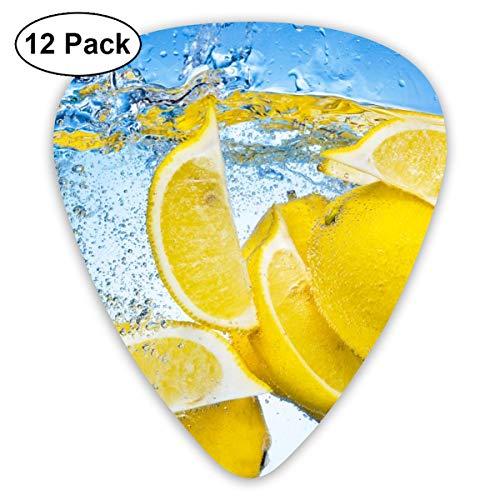 Houity Gitarrenplektrum, Zitronenfallend unter Wasser, 12 Stück, für Gitarren, Quads, etc.