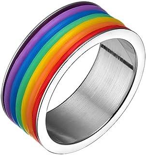 Purmy Acero Inoxidable Anillo lesbico Gay Anillo LGBT Ring