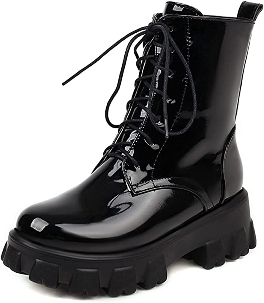 Phoenix Mall Edgchic Womens Lace Up Combat Ladies Boots Ankle Goth Punk Outstanding