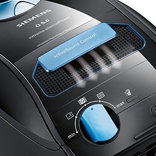Siemens VSQ5X1230 Aspirateur traîneau à sac extreme silencePower avec Compressor Technology et système de filtration HEPA