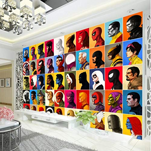 Superhero Comics Wallpaper Spiderman Muurschildering Captain America Fotobehang Kinderkamer Wandbekleding Avengers Room Decor