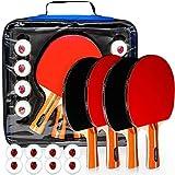 Juego de 4 paletas de ping pong – Raqueta de tenis de mesa