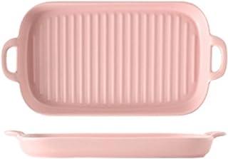 AINEKUI Ceramic Baking Dish, Rectangular Small Baking Pan with Double Handles, Odor-Free Ceramic for Kitchen, Cooking, Cak...