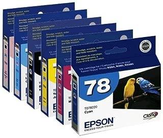 Set of 6 Epson 78 Inkjet Cartridges