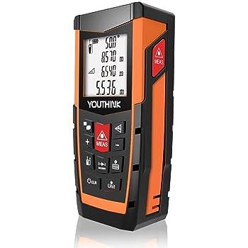 /área distancia de medici/ón Medidor Laser de Distancia c/álculo de volumen buscador l/áser con modo pithagoreano medidor de distancia 40 m//60 m//80 m//100 m