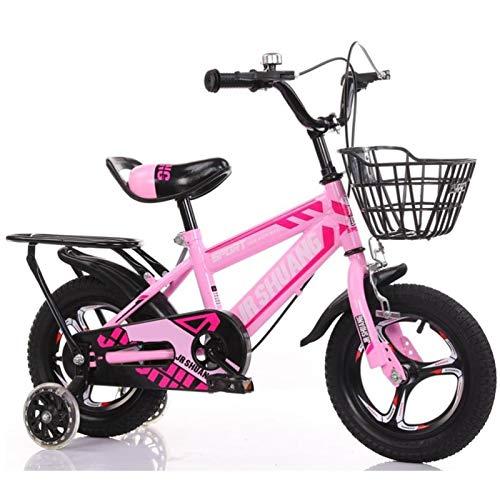 GTD-RISE Bicicleta niño Bicicleta Infantil Niños for Bicicleta, Muchachas de los Muchachos del Pedal del Asiento de la Bicicleta con destellar Las Ruedas traseras for 2-9 años En Tamaño 12'14' 16'18'
