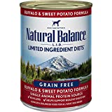 Natural Balance L.I.D. Limited Ingredient Diets Wet Dog Food, Buffalo & Sweet Potato Formula, 13 Ounce Can (Pack of 12)