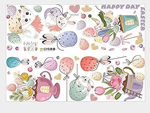 Adesivi murali Adesivi per i conigli Egg Bambini Camera Armadio d'ingresso Armadio Armadio Decorazione della classe