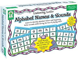 Alphabet Names & Sounds: Learn to identify alphabet letters and beginning letter sounds while having the fun of playing lotto!