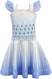 Thombase Kids Girls Moana Costume Princess Party Dress up Ballet Skirt Halloween Cosplay Dresses