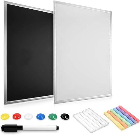 Tableau mixte 60x40cm tableau noir ardoise et tableau blanc