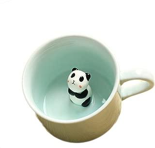 ZaH 3D Mug Animal Inside Cup Cartoon Ceramics Figurine Teacup Christmas Birthday Gift for Boys Girls Kids Women Men Coffee Mug (8 oz Panda)