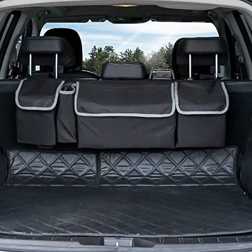 MGDAM Sac de Rangement pour siège arrière Voiture, Voiture Organiseur de Coffre Filet Rangement Voiture Sac de Rangement Multi-Poche pour Siège pour SUV(Gros)
