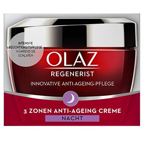 Olaz Regenerist 3-Zonen Straffende Anti-Aging Creme Für Die Nacht 50ml, Mit Amino-Peptid-Komplex II