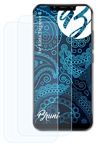 Bruni Schutzfolie kompatibel mit Kiano Elegance 6 Folie, glasklare Bildschirmschutzfolie (2X)