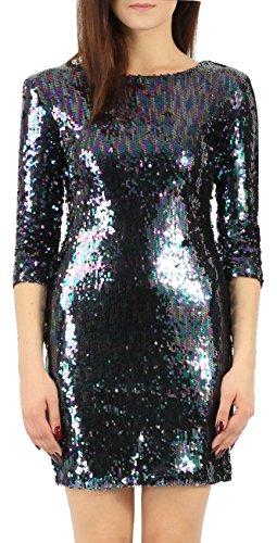 Momo&Ayat Fashions Dames Twee Toon Pailletten Jurk Bodycon Jurk UK Maat 8-14