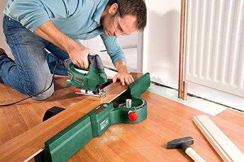 Bosch DIY Stichsäge PST 900 PEL, 1 Sägeblatt T 144 D, Spanreißschutz, CutControl, Transparenter Abdeckschutz, Sägeblattdepot, Koffer (620 W, Schnittiefe 90 mm Holz, 8 mm Stahl) - 5