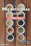 Mis deliciosas Recetas - Edición Salsa: Libro de recetas para ser completado y personalizado | 50 recetas | 2 páginas cada una